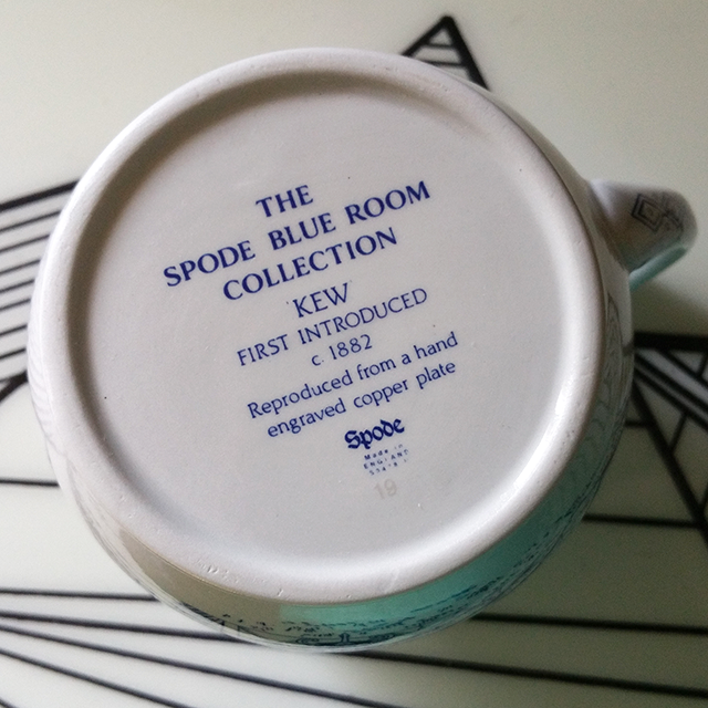 #thriftscorethursday Week 67 Spode Blue Collection Creamer (details) | www.blackandwhiteobsession.com