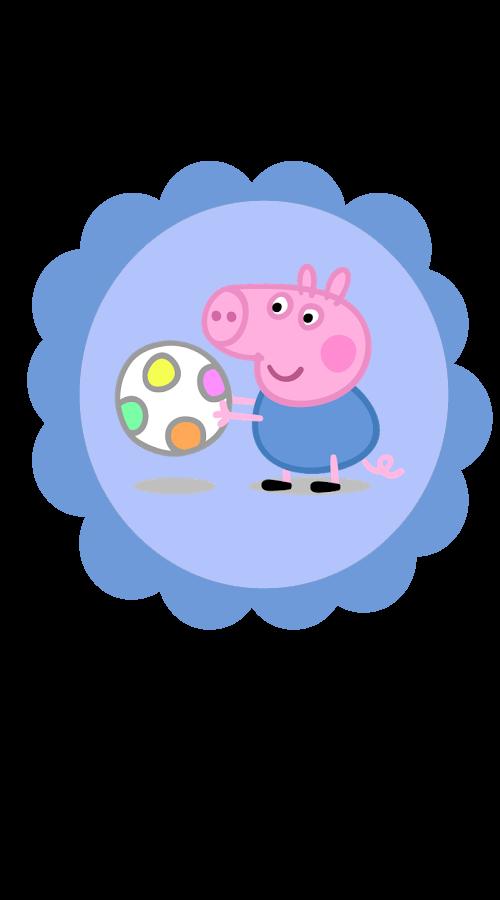 Toppers para cupcake Peppa Pig
