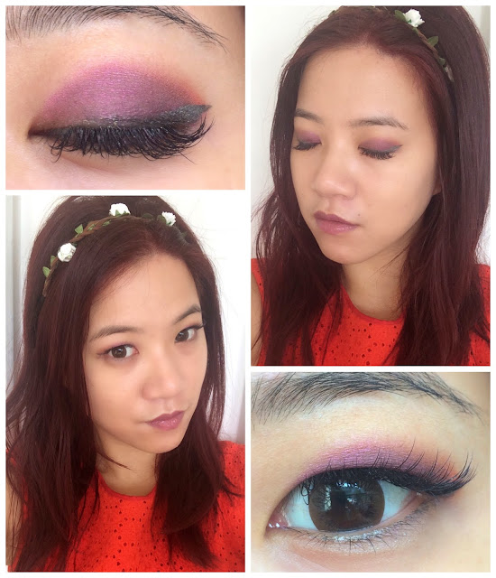 single eyelid make up, asian eyes