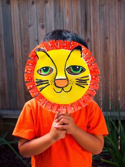3D paper plate lion mask!