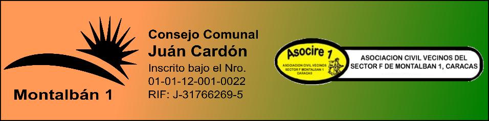 Consejo Comunal Juan Cardón y ASOCIRE