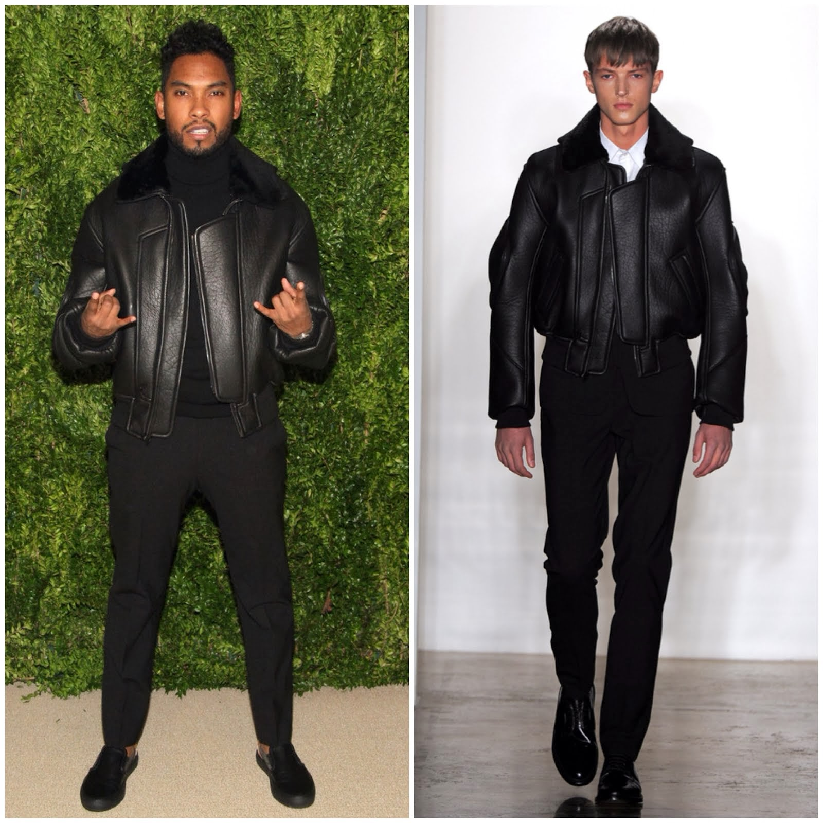 Miguel in Tim Coppens - CFDA and Vogue 2013 Fashion Fund Finalists Celebration November 2013