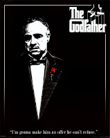 Godfather movie poster with marlon Brando