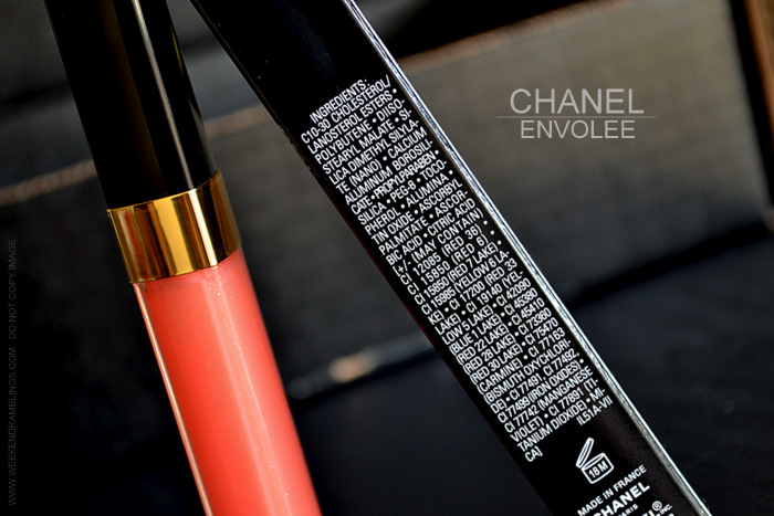 Chanel Envolee 427 Levres Scintillantes Glossimer Lete de Papillon Summer 2013 Makeup Collection Indian Darker Skin Beauty Blog Photos Swatches Review FOTD Ingredients