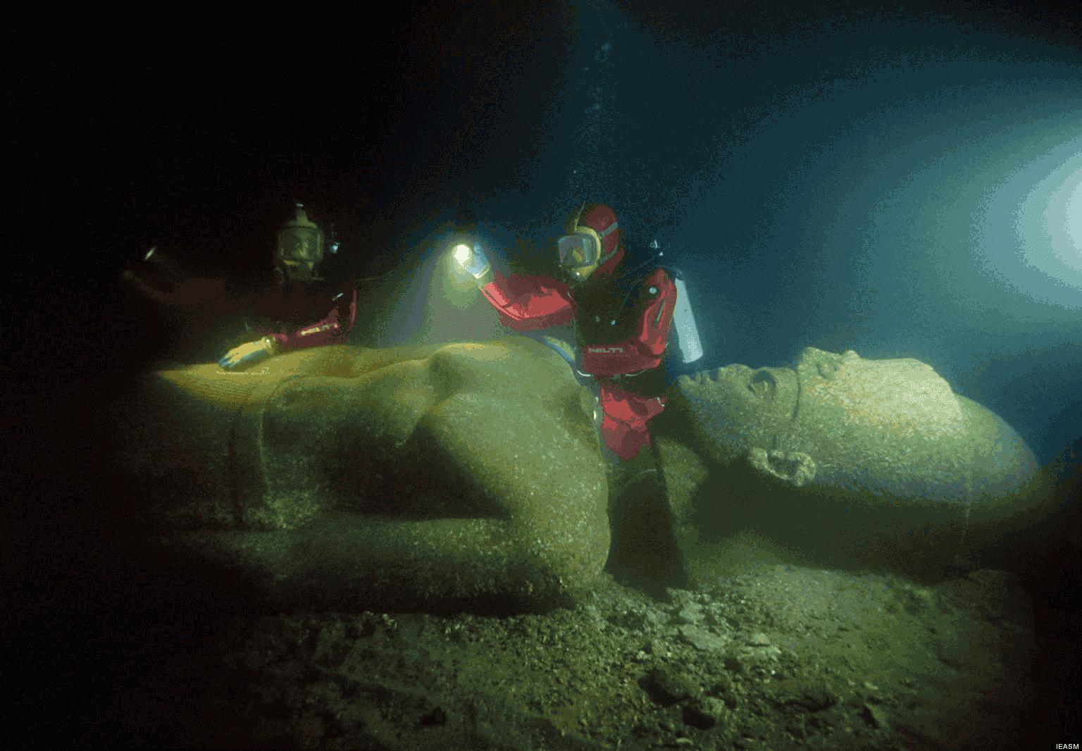 Reruntuhan Istana Cleopatra di Mesir