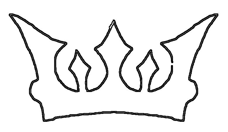 Crown Drawing Template Crown drawing template.