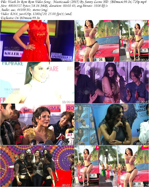Wash In Rom Rom Video Song (Shotting) – Mastizaade (2015) By Sunny Leone HD