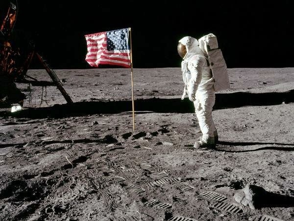 Flag on the moon NASA space program landing controversy science astronomy space astronauts apollo
