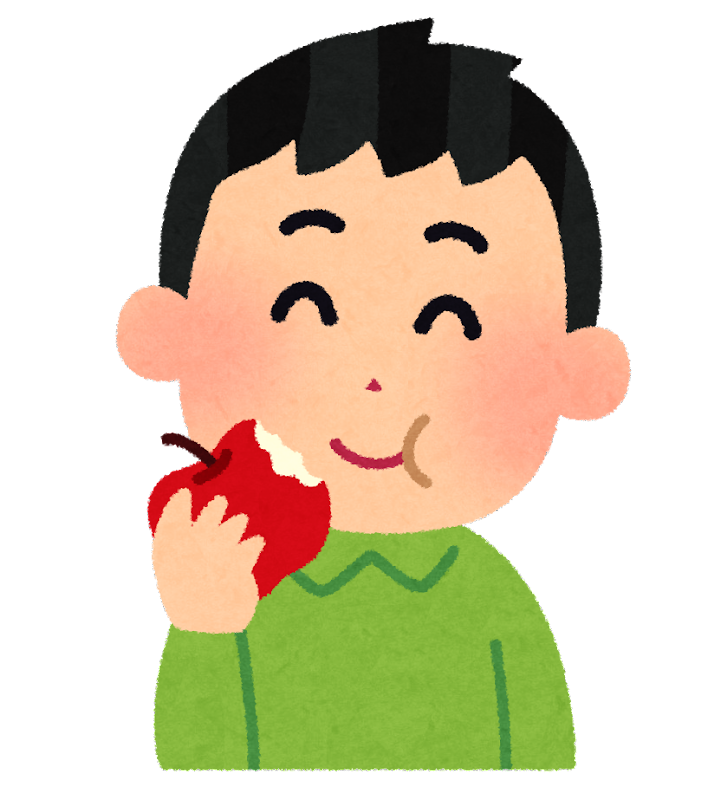 リンゴを食べる男の子の ... : 年賀状 2015 無料素材 : 年賀状
