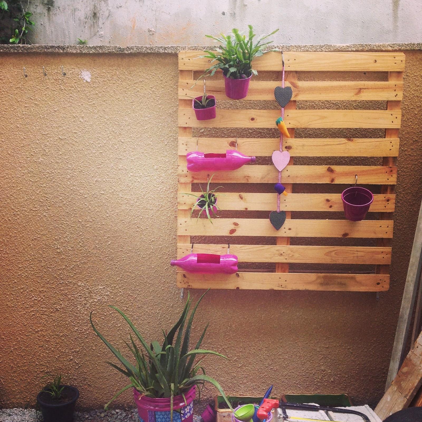 jardim vertical no sol:Jardim Vertical com Pallet