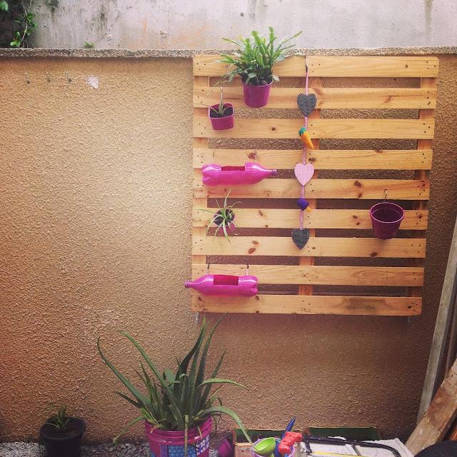 Jardim Vertical com Pallet