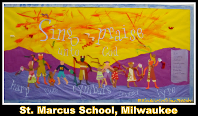 photo of: &quot;Sing Praise Unto God&quot; Bulletin Board at St. Marcus School Milwaukee