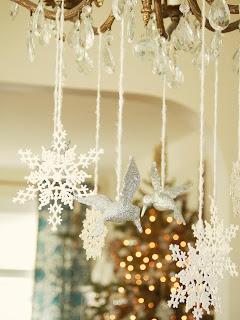 lampadario decorato per Natale immagine