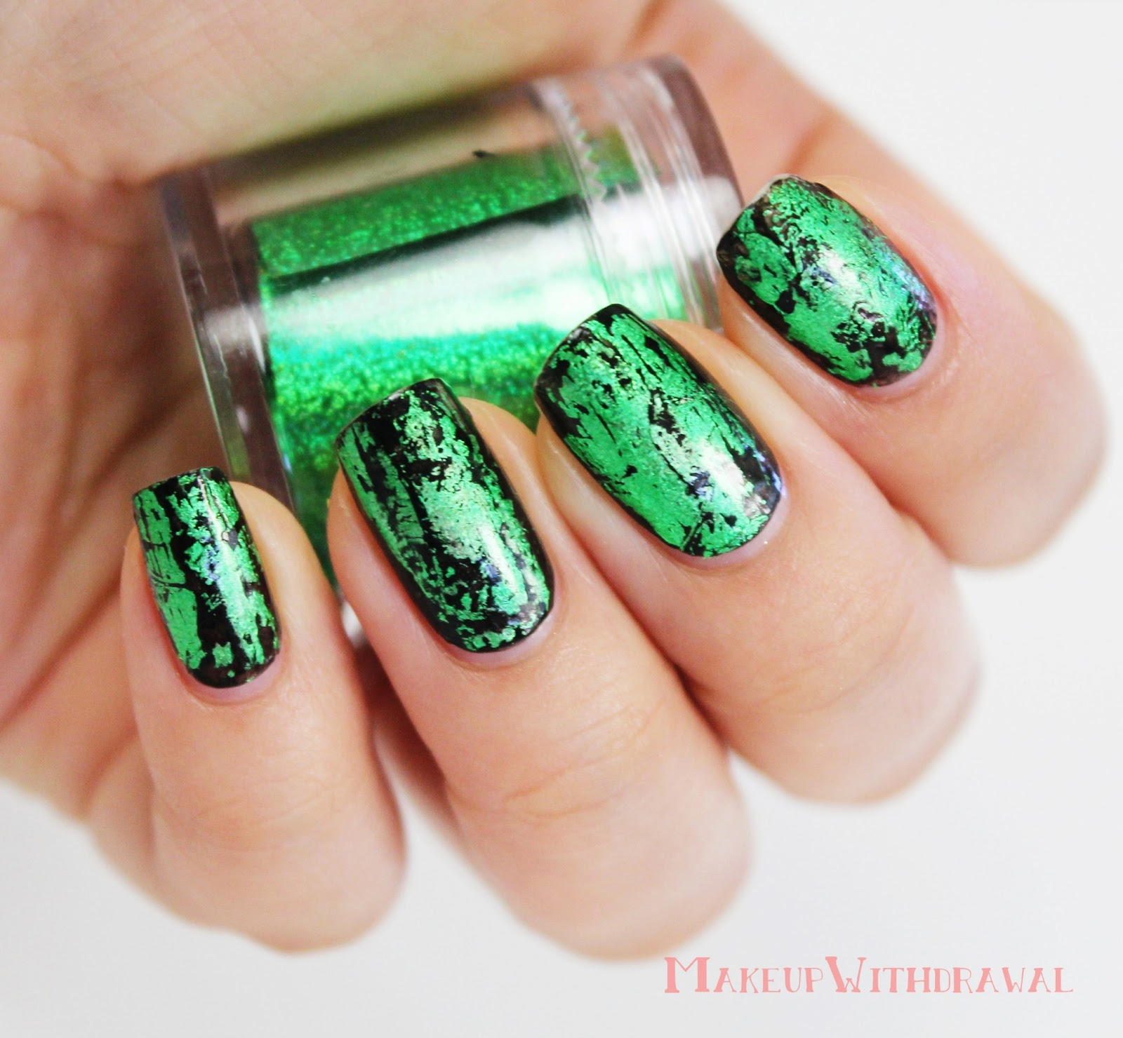 31 Day Nail Challenge V2 Green Nails Makeup Withdrawal