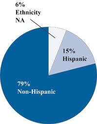 Gráfico con información étnica