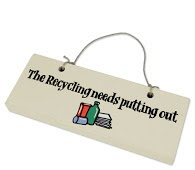 Recycling signs from Dorset Log Stores