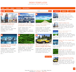 DeNews Orange Blogger Template