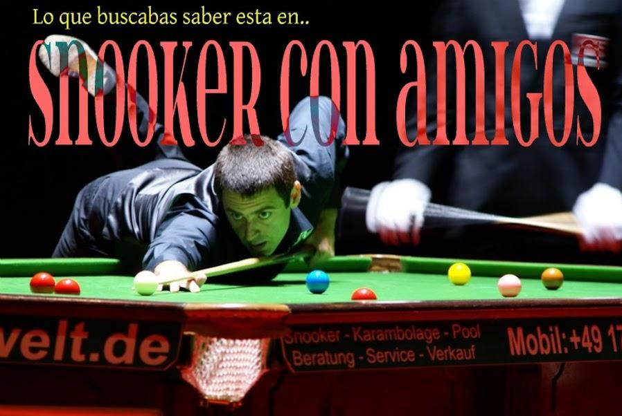 Bienvenidos a Snooker con amigos