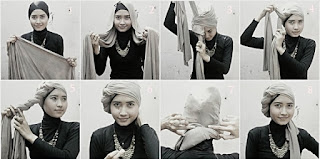 model jilbab pashmina untuk wajah panjang