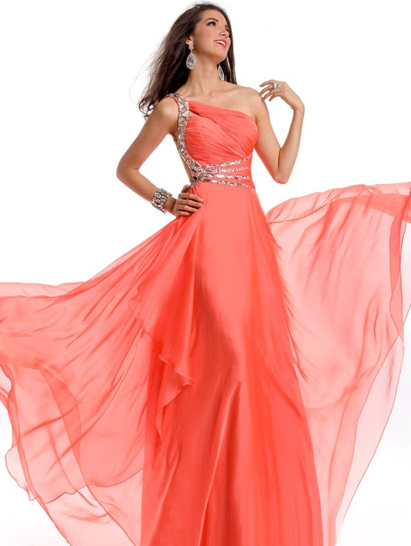 2013 Latest Prom Dress ~ Fashion Point Salmon Prom Dresses 2013