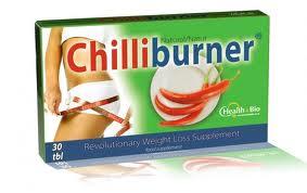 Imaginea cutiei suplimentului pentru slabire rapida, Chilli Burner