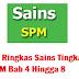 Nota Ringkas Sains Tingkatan 5 SPM Bab 4 Hingga 8