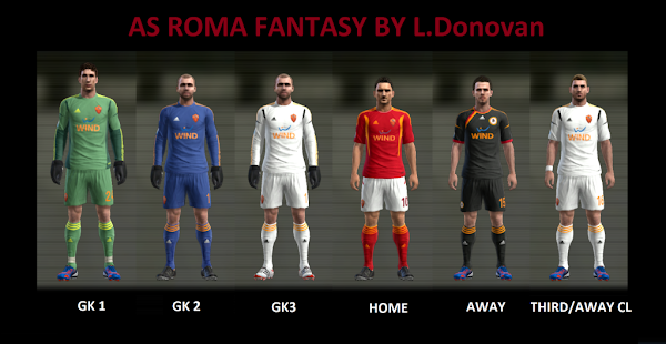 PES 2013 AS Roma Adidas Fantasy Kits by L.Donovan