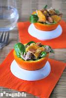 Ensalada de pollo y naranja