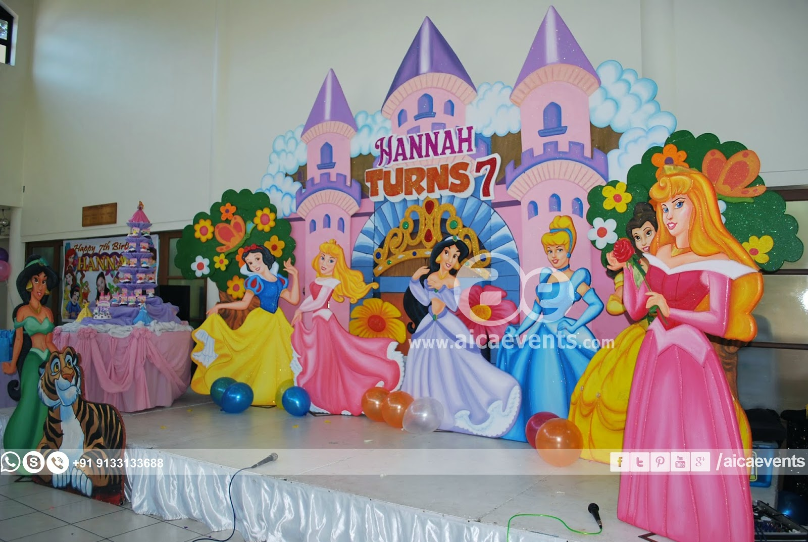 Aicaevents princess themed birthday party for Princess dekoration