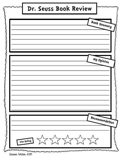 https://www.teacherspayteachers.com/Product/Dr-Seuss-Book-Review-and-Opinion-Writing-Freebie-1744371
