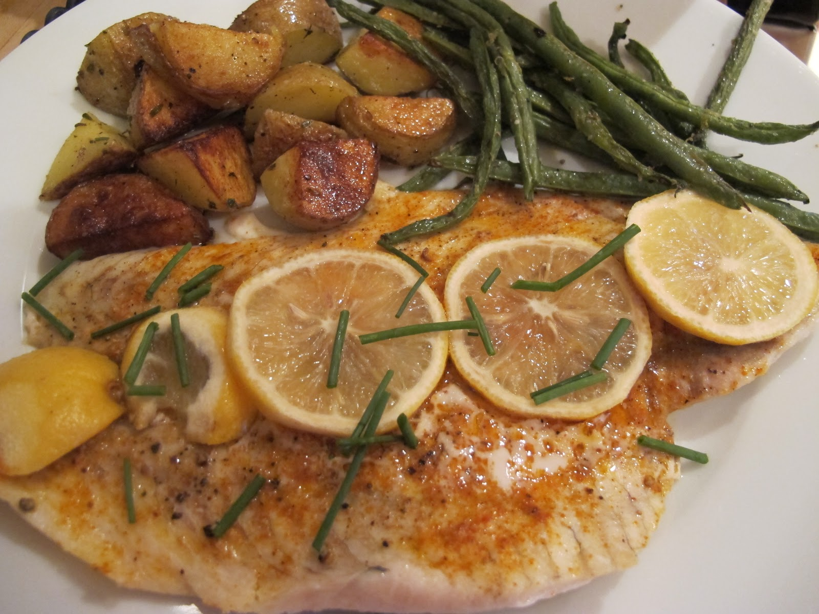 Dinner Place: A Fish Story: Foiled Flounder, Oven-Roasted Green ...