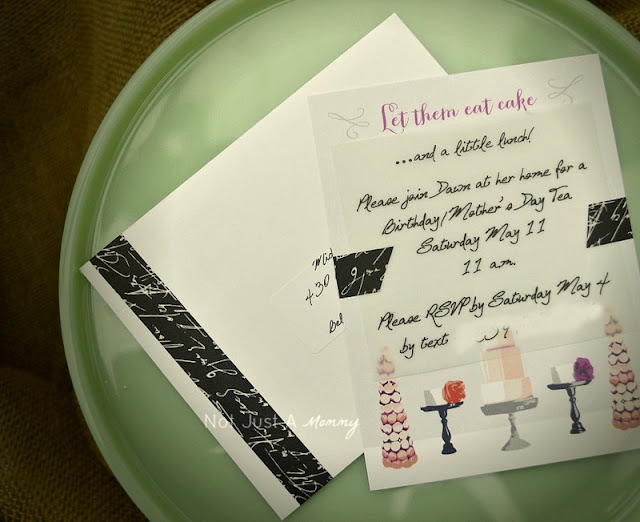 river bridge macaron card invite Mother's Day Tea