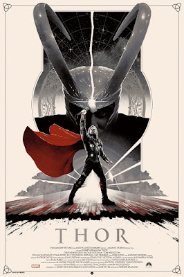 Marvel's Thor Variant Movie Screen Print by Matt Ferguson