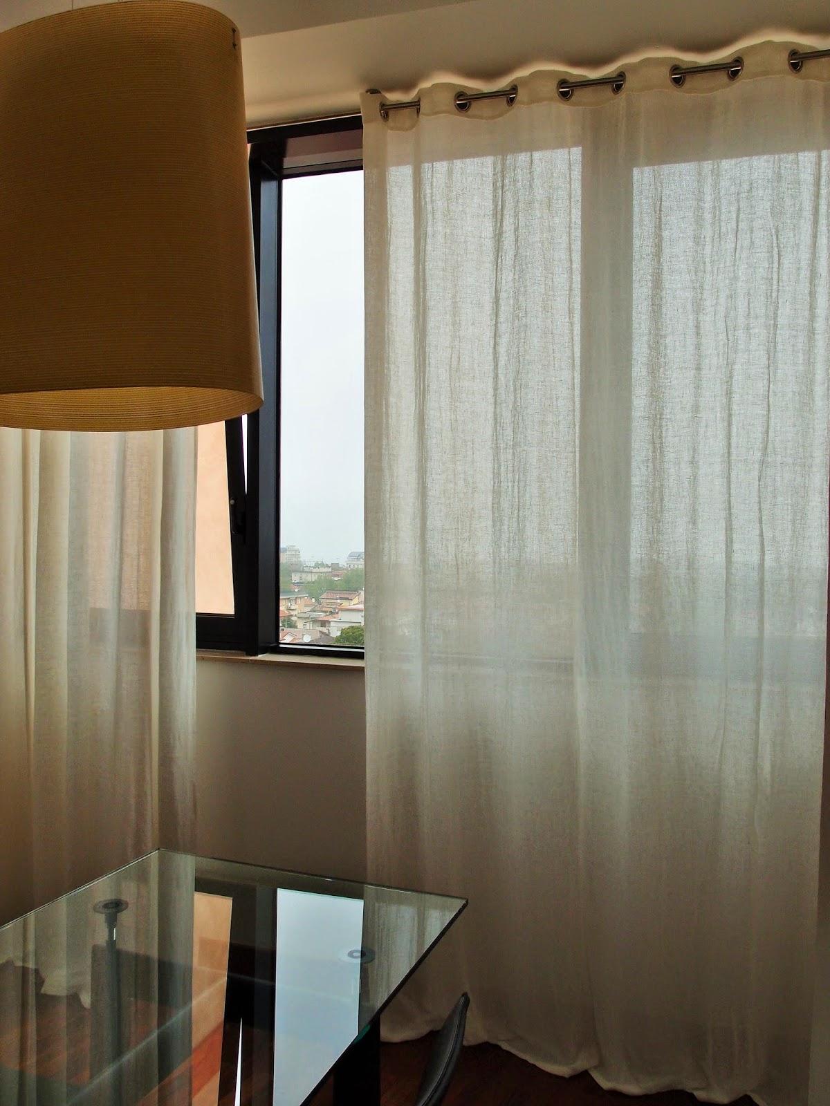 Puro Lino Pesante Per Questa Grande Tenda Della Sala Da Pranzo #3C2C1C 1200 1600 Modelli Di Cucine Moderne Scavolini