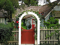Garden Arbor With Gate2