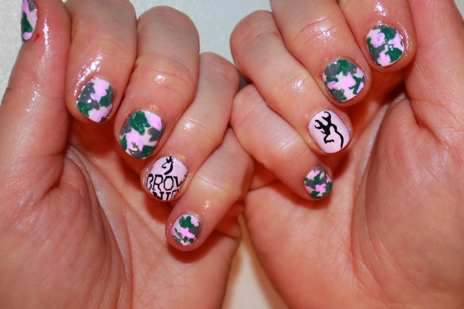 Pink camo nail designs nails gallery pink camo nail designs image prinsesfo Image collections
