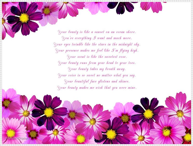 English poetry your beauty is like ~ Welcome to World Poetry Site