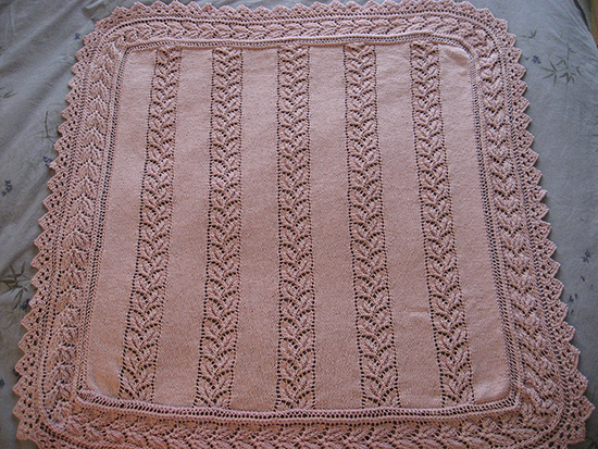 Lace Panelled Baby Blanket