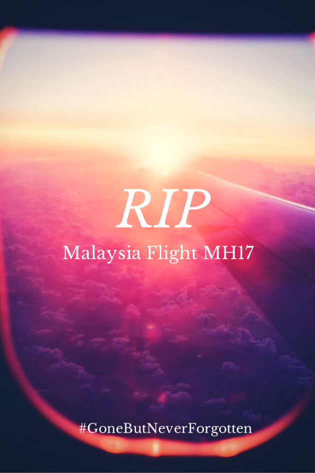 举国哀悼 our thoughts & prayers are with families and friends of those on board MH17