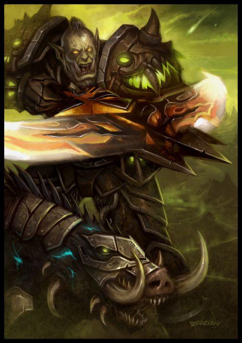 mike lim daarken ilustrações fantasia medieval violência batalhas monstros arte conceitual video games Orc