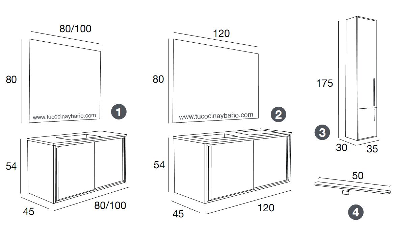Puertas de ba os publicos medidas for Medidas para muebles