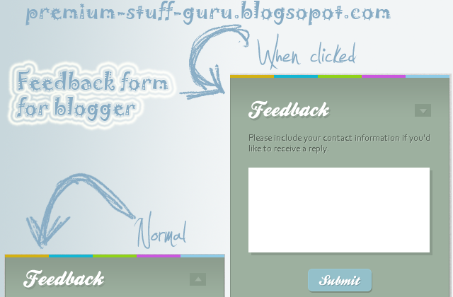 Add Stylish Feedback-Contact Form in Your Blogger Blog tutorial widget jquery css