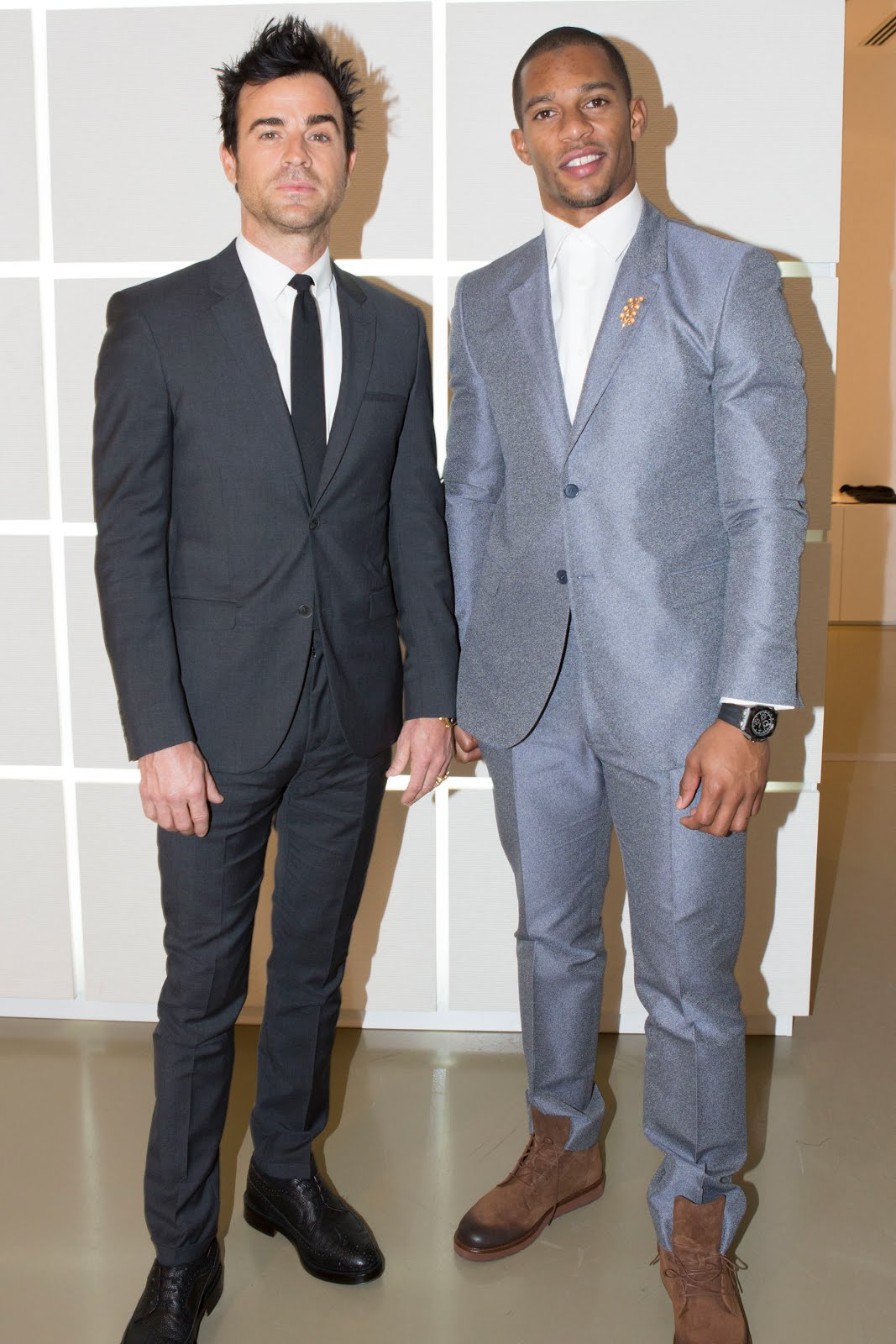 00O00 Menswear Blog Justin Theroux and Victor Cruz in Calvin Klein Collection - Calvin Klein Collection Menswear Fall Winter 2013, #MFW