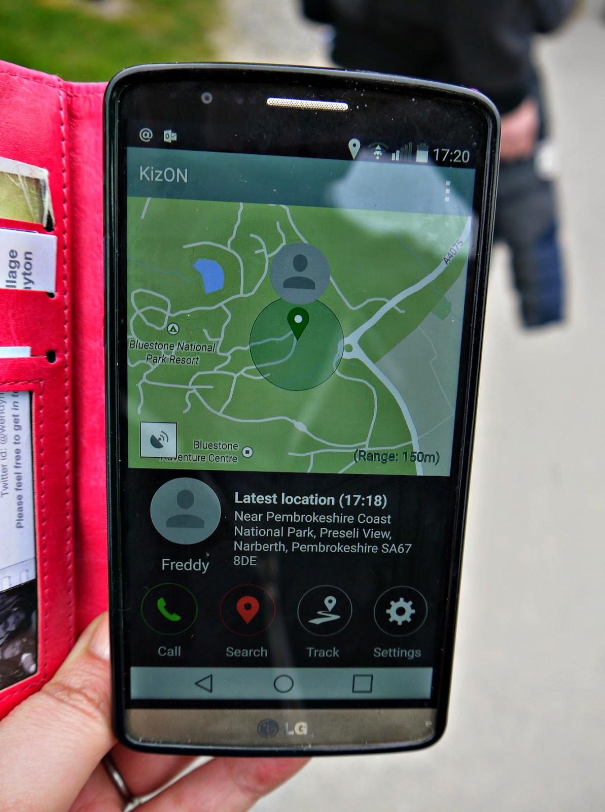 LG KizON, smartphone, app
