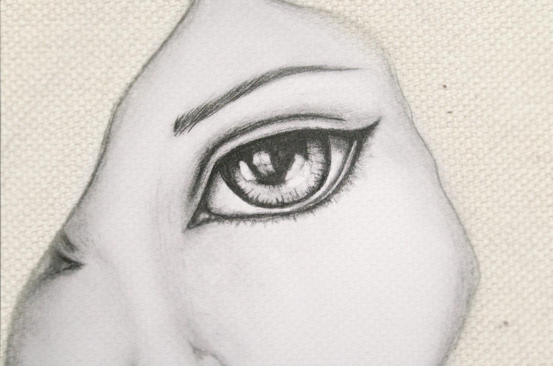 Dibujo de ojos tristes a lapiz  Imagui