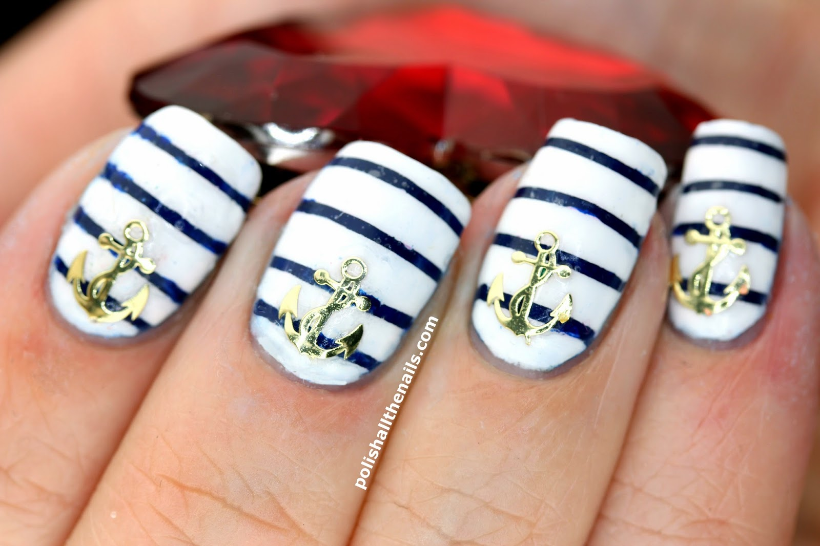 Exelent Anchor Nail Stickers Festooning - Nail Art Ideas - morihati.com