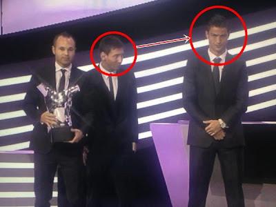 Cara de Ronaldo prémios uefa