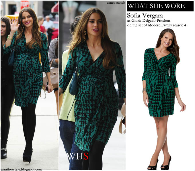 sofia vergara, modern family, maternity, dress, fashion, Gloria Delgado-Pritchett,