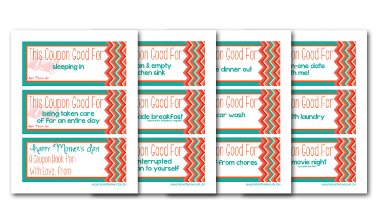 i should be mopping the floor: Mother's Day Printable Coupon Book