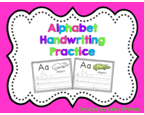 http://www.teacherspayteachers.com/Product/Alphabet-Handwriting-Practice-782603